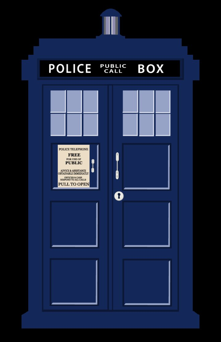 719x1111 Tardis Vector Outline