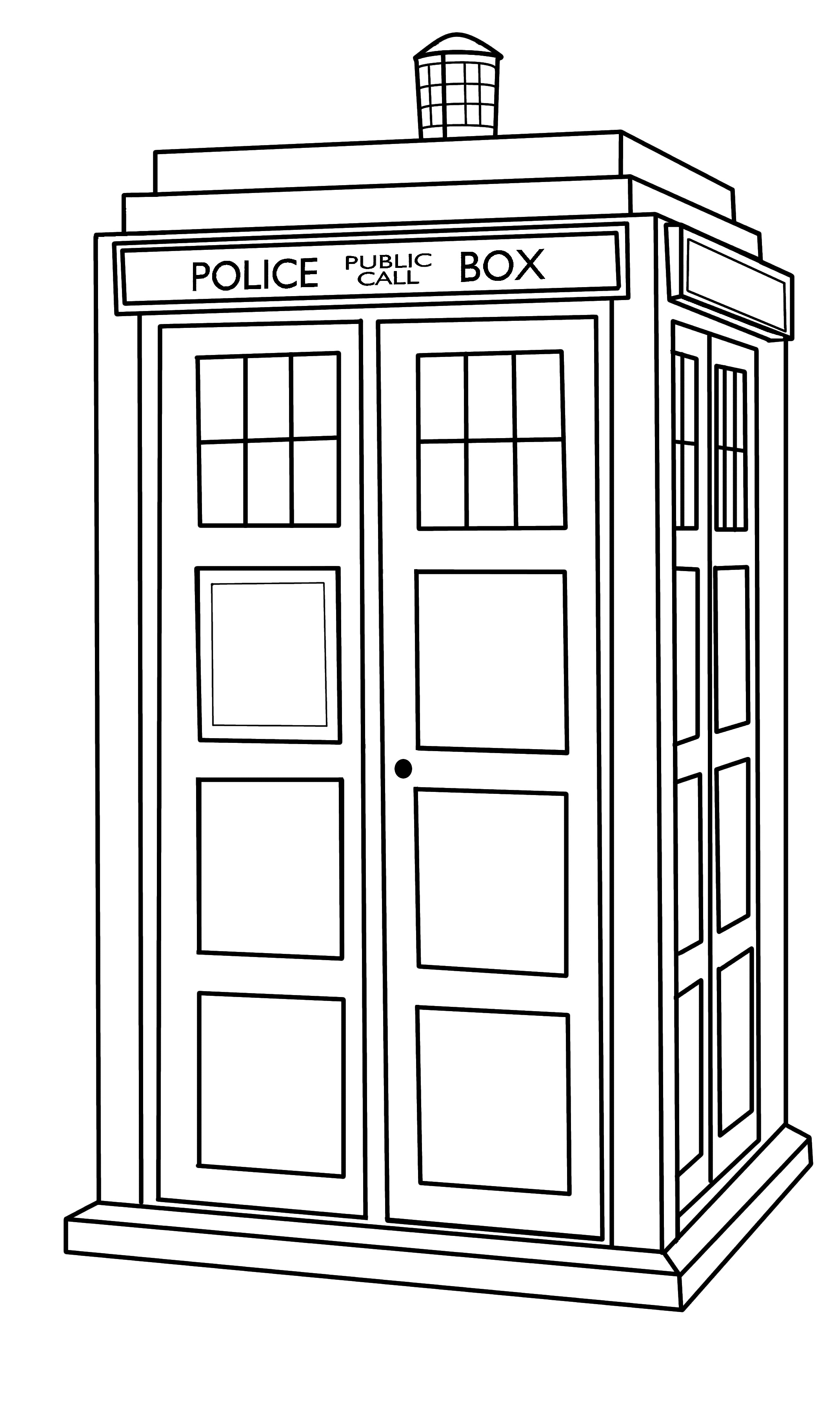 2142x3600 Collection Of Doctor Who Tardis Drawing High Quality, Free