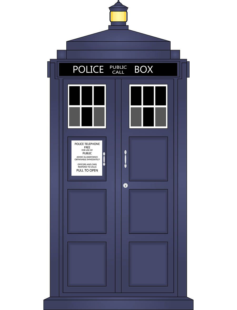 900x1177 Doctor Who Tardis Vector Illustration By Pembertonartstudios On