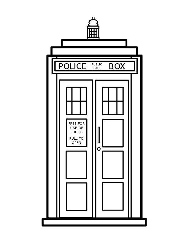 612x792 Doctor Who Clipart