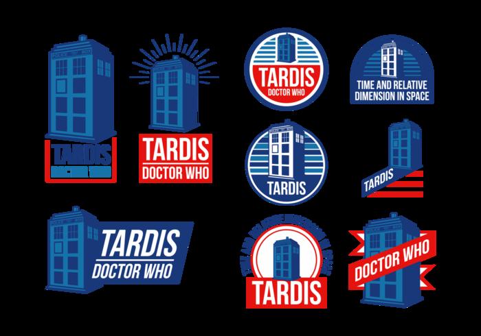 700x490 Police Box Tardis Vector Labels