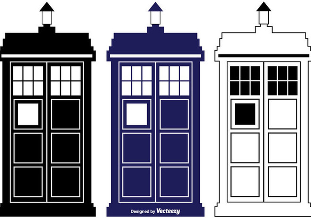 632x443 Tardis Vector Silhouette Shapes Free Vector Download 352833 Cannypic