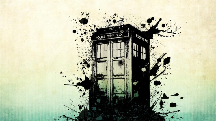 748x421 Science Fiction, Tardis, Vector Art, Paint Splatter, Phone Box Hd