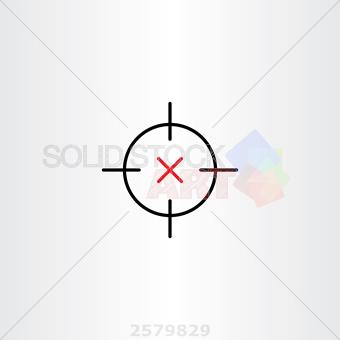 340x340 Stock Illustration Of Sniper Target Icon Vector Design Symbol