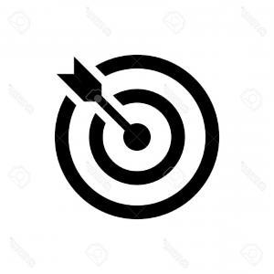 300x300 Stock Photo Target Arrow Success Isolated Icon Vector Illustration