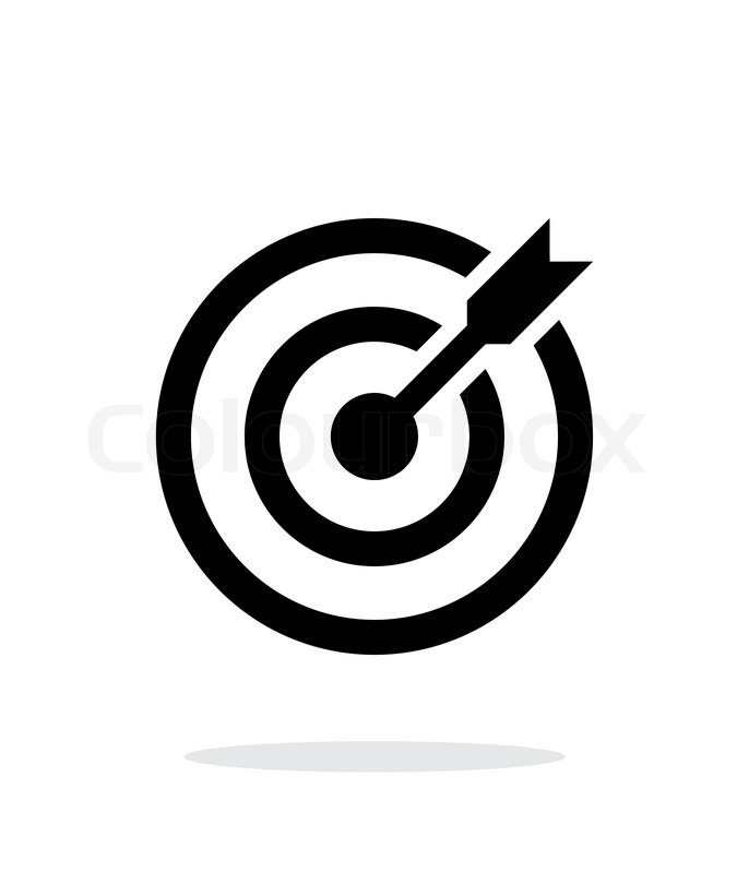 686x800 Successful Shoot. Darts Target Aim Icon On White Background