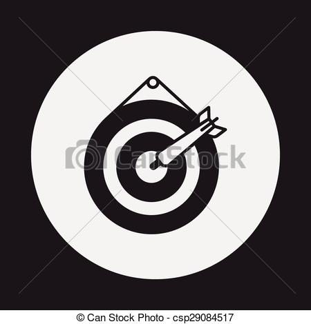 450x470 Archery Target Icon Vector Clip Art