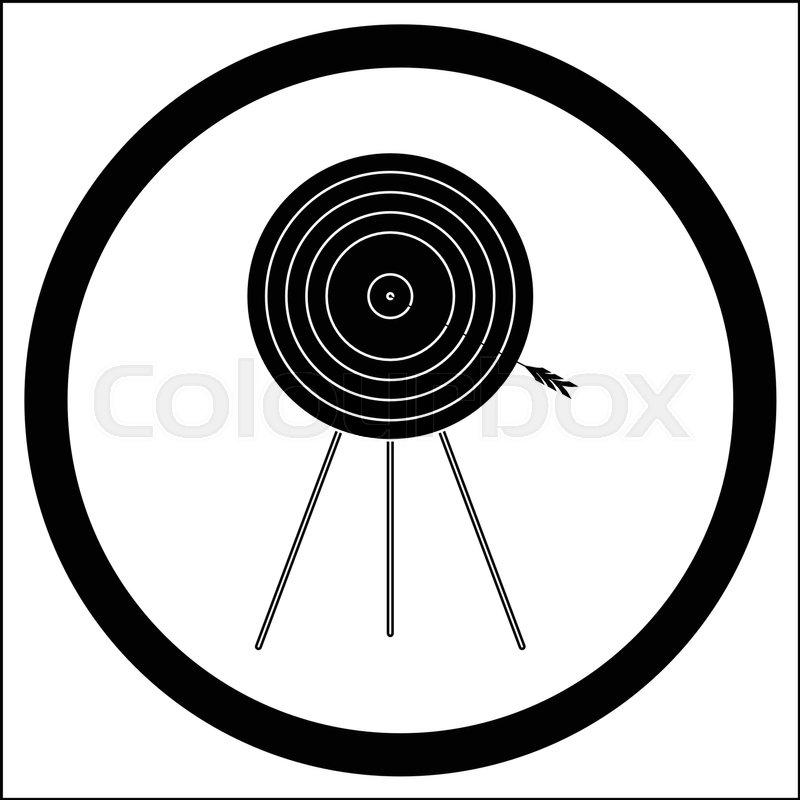 800x800 Target Goal Of Black White Icon Vector Illustration. Target Icon