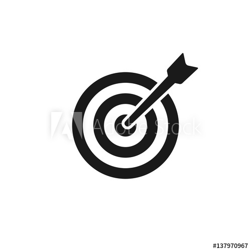 500x500 Target Icon, Vector.