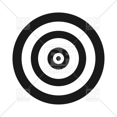 400x400 Target Icon On White Background Vector Image Vector Artwork Of