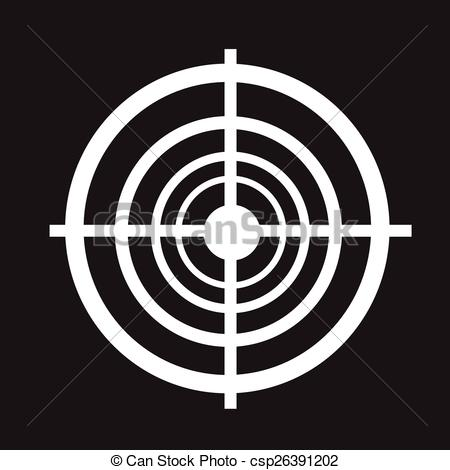450x470 Target Icon Vector Clipart