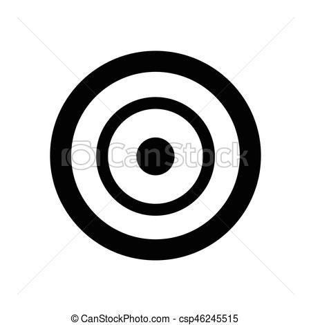 450x470 Target Icon Vector Illustration.