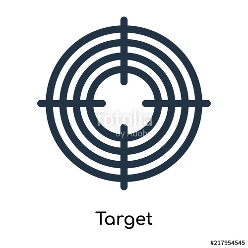 500x500 Target Icon Vector Isolated On White Background, Target Sign