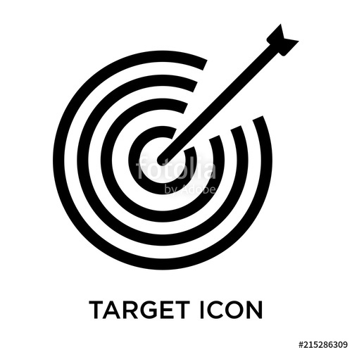 500x500 Target Icon Vector Sign And Symbol Isolated On White Background