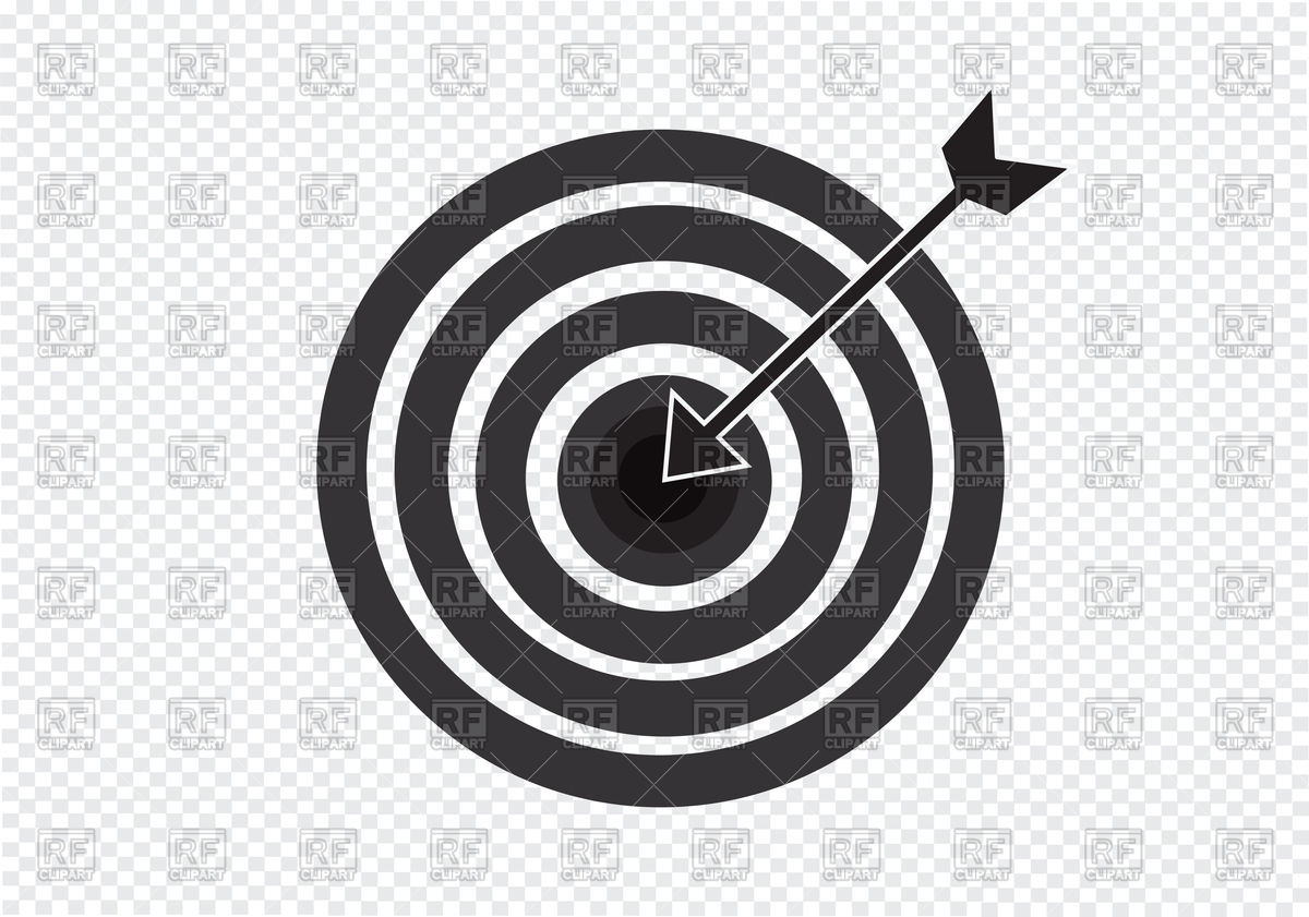 1200x841 Target Icon With Arrow Vector Image Vector Artwork Of Icons And