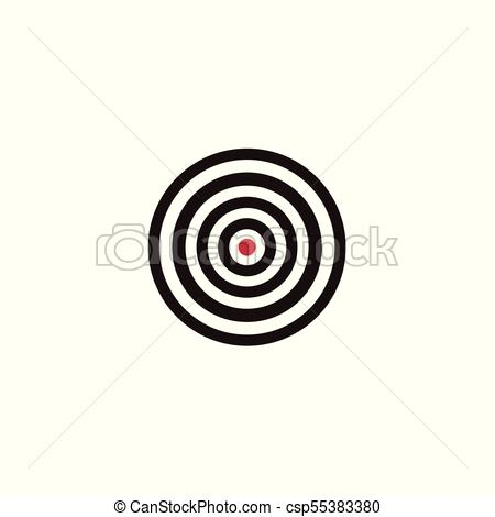 450x470 Flat Style Sport, Military Target Icon, Vector Illustration