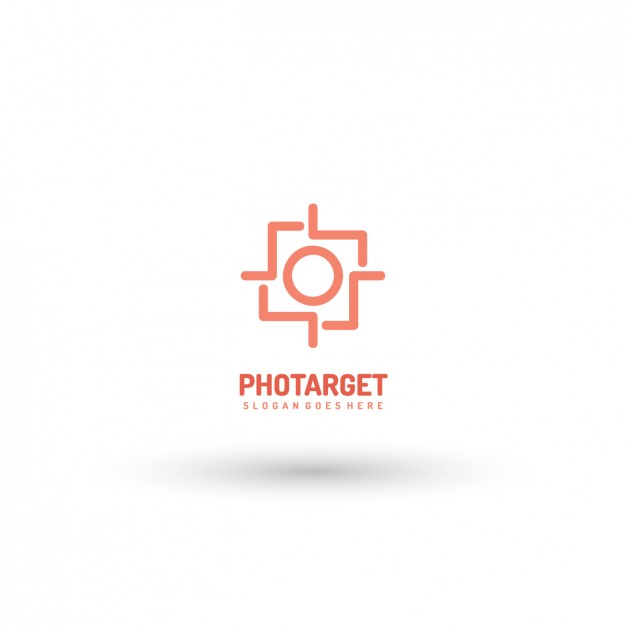 626x626 Photo Target Logo Template Vector Free Download