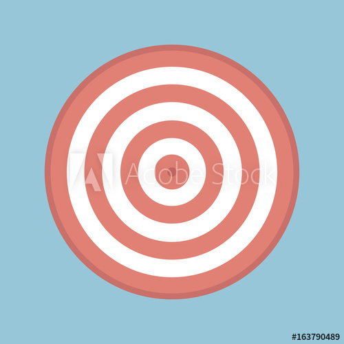 500x500 Target For Archery. Shooting Target Logo Vector.