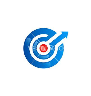 380x400 Circle Arrow Direction Spot Target Logo Vector Project B