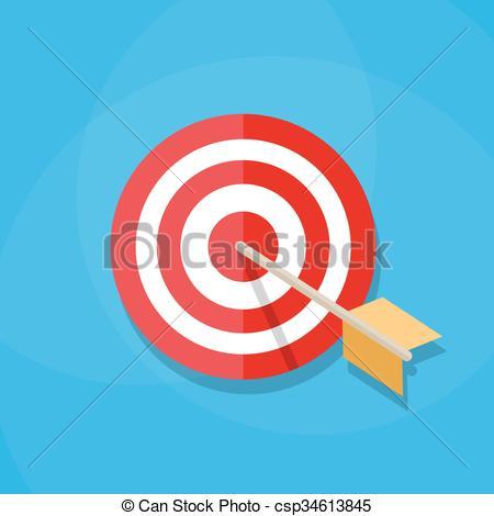 450x470 Darts Hitting A Target. Red White Circle Darts Target With Orange