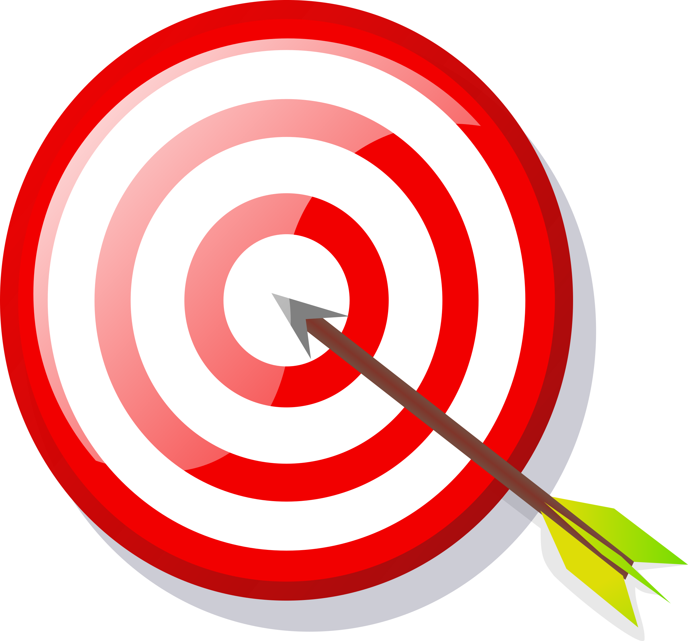 2400x2236 Arrow And Target Vector Clipart Image