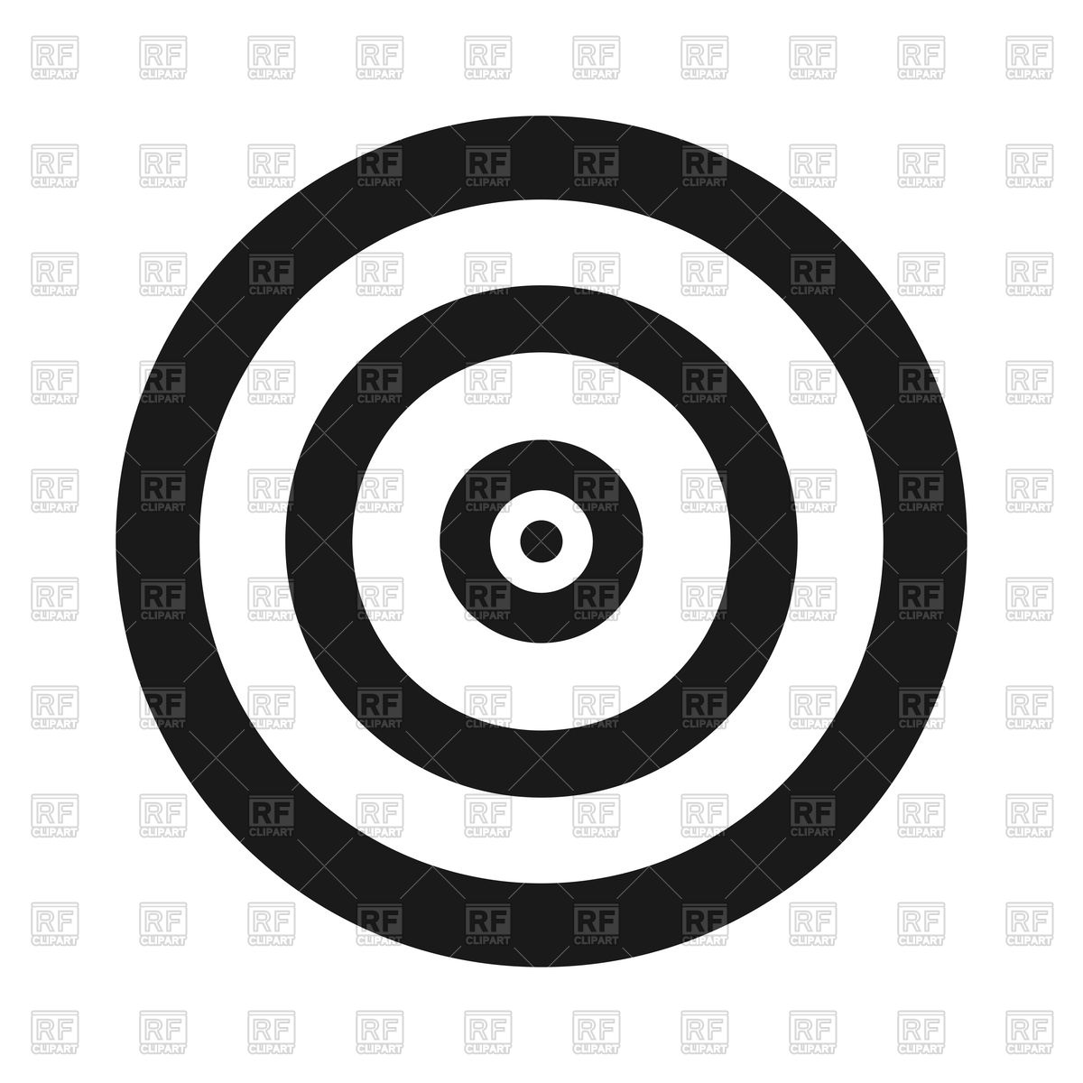 1200x1200 Target Icon On White Background Vector Image Vector Artwork Of