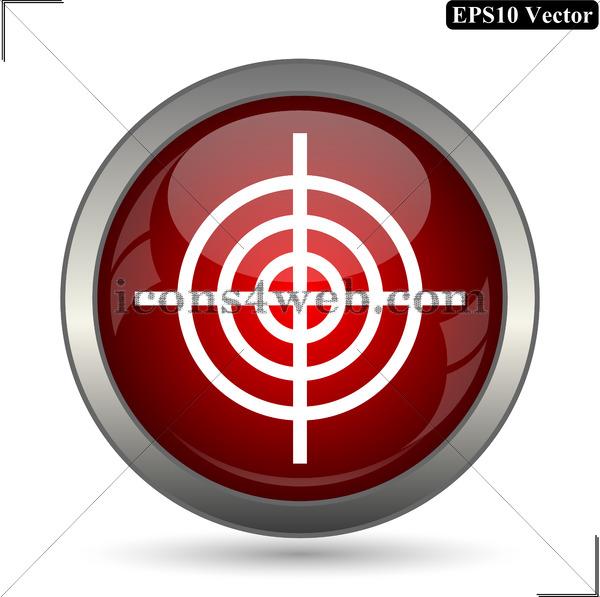 600x597 Target Vector Icon. Target Vector Button. Eps10