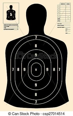 294x470 Black Human Target Vector Clip Art