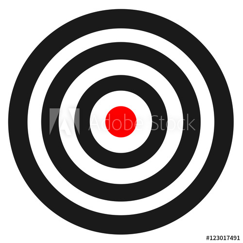 500x500 Blank Template For Sport Target Vector Shooting Competition. Clean