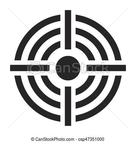 450x470 Crosshair Target Vector Symbol Icon Design. Beautiful... Vector