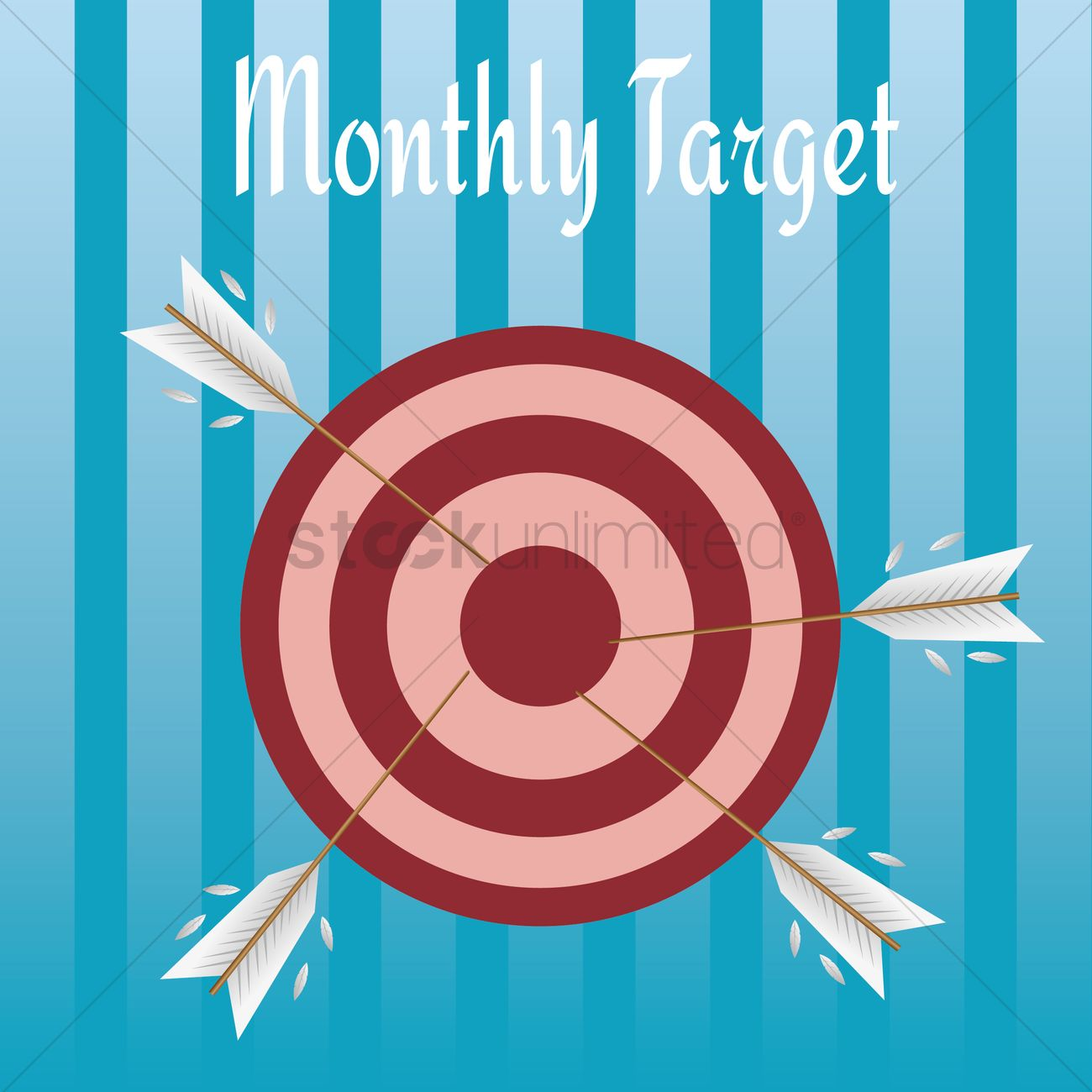 1300x1300 Free Monthly Target Vector Image