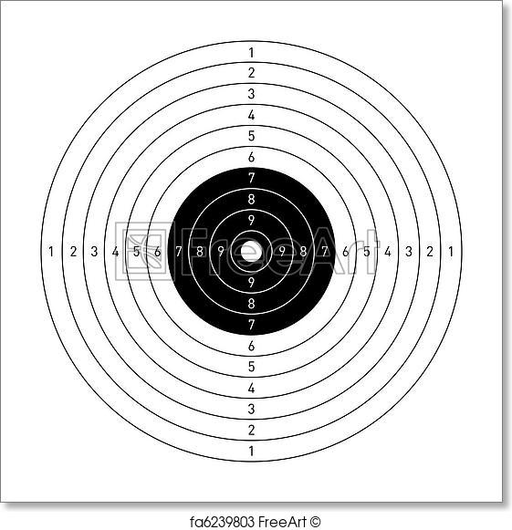 561x581 Free Art Print Of Target. Vector Illustration Of A Target