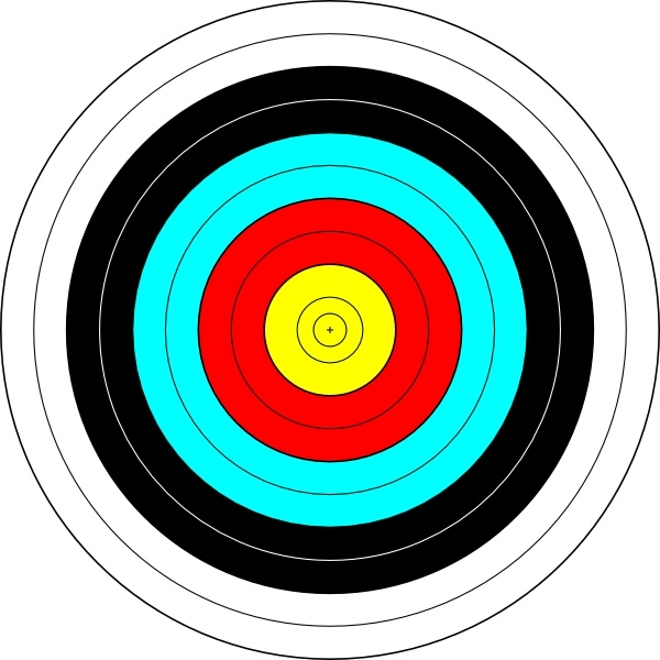 600x600 Archery Target Clip Art Free Vector In Open Office Drawing Svg
