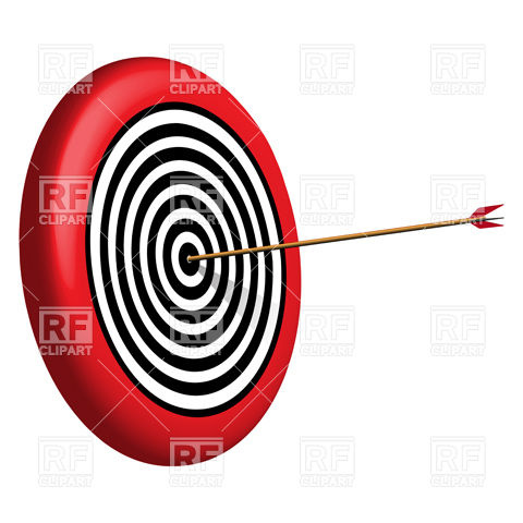 480x480 Target Vector Free Download Round Tar And Arrow Royalty Free