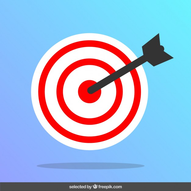 626x626 Arrow Hitting The Target Vector Free Download