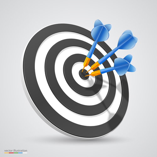 500x500 Target With Darts Vector Illustration Vector 05 Free Download