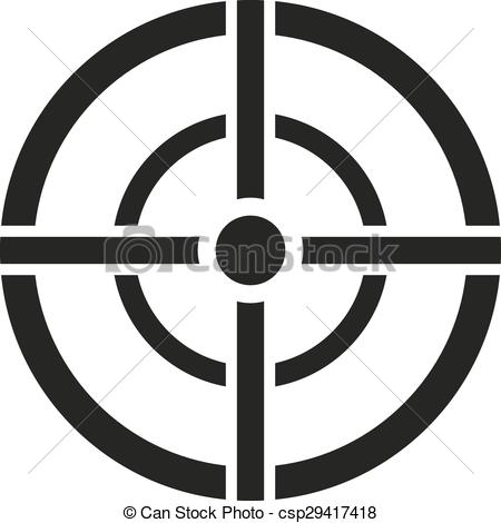 450x470 The Aim Bag Icon. Crosshair And Target, Sight, Sniper Symbol. Flat
