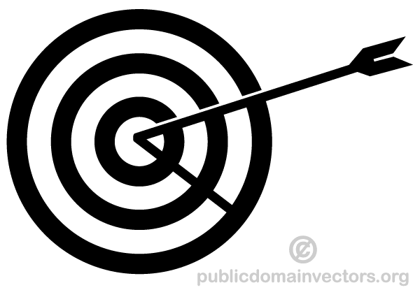 600x415 Vector Arrow Hitting In The Target Free Vector Graphics Download