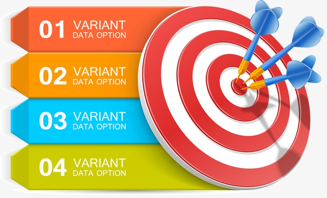 650x394 Vector Target, Target Vector, Chart, Ppt Material Png And Vector