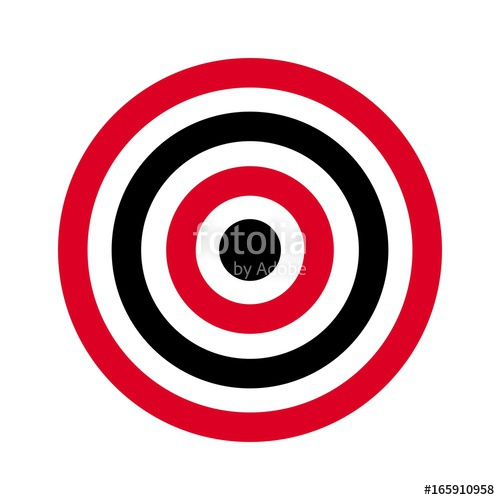 500x500 Circle Of Target. Archery Target. Shoot Target. Vector Logo