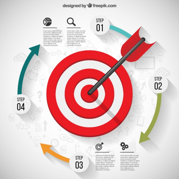 626x626 Business Target Infographic Vector Free Download