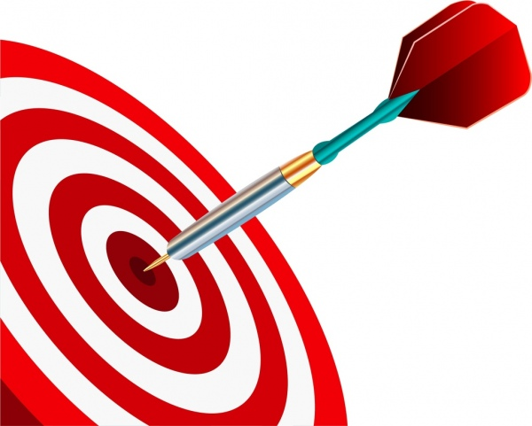 600x481 Marketing Concept 3d Shiny Colored Target Arrow Icons Free Vector