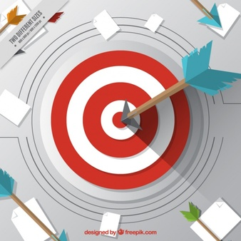 338x338 Target On Body Shot Arrow Royalty Free Library