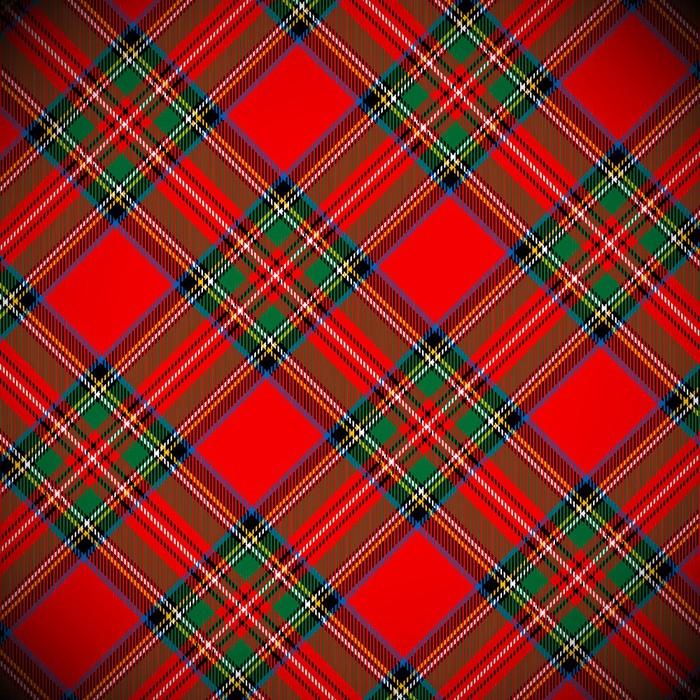 700x700 Tartan Vector Background Wardrobe Sticker We Live To