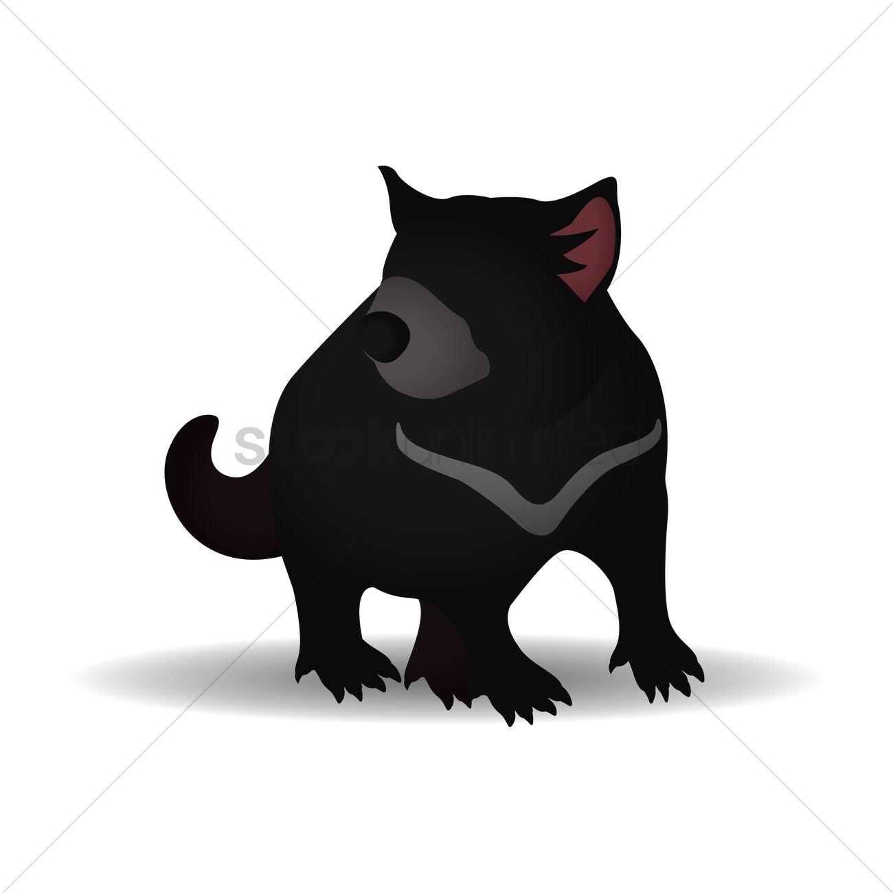 1300x1300 Tasmanian Devil Vector Image