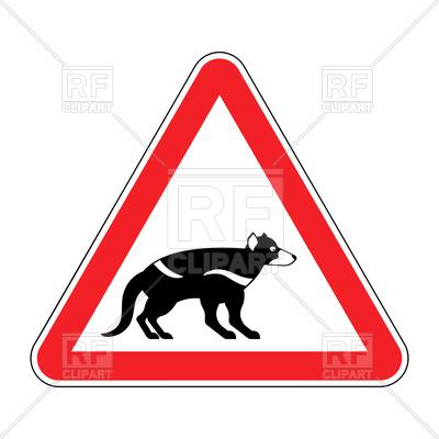 400x400 Attention Tasmanian Devil Sign Vector Image Vector Artwork Of