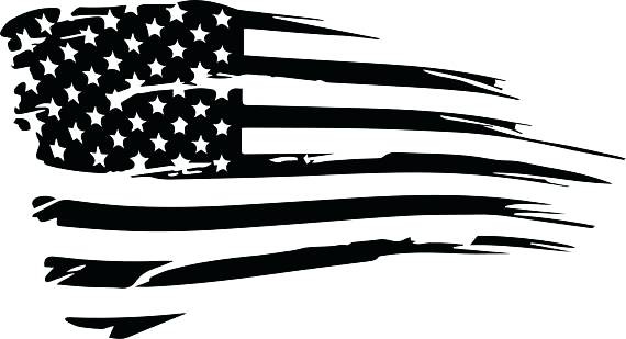 570x309 Distressed American Flag Vector Cut File T Shirt Fromthesix