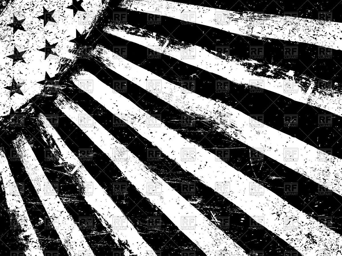 1200x900 Monochrome Negative Photocopy American Flag Vector Image Vector