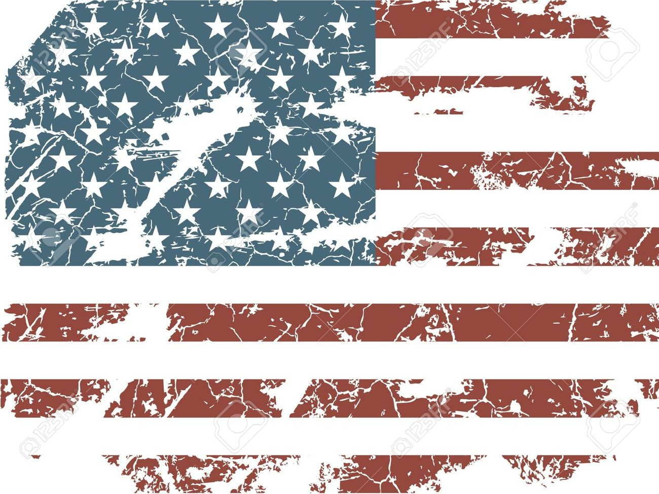 1300x975 American Flag Clipart Ripped