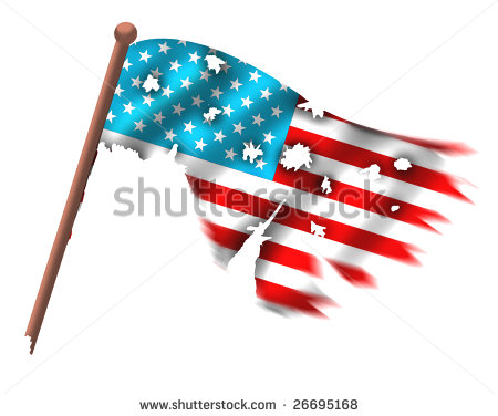 450x376 American Flag Clipart Tattered